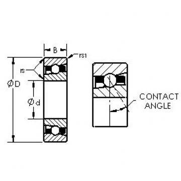 AST H7016C/HQ1 angular contact ball bearings