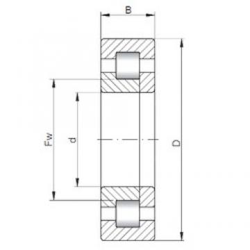 ISO NUP3330 cylindrical roller bearings 150 mm x 320 mm x 128 mm