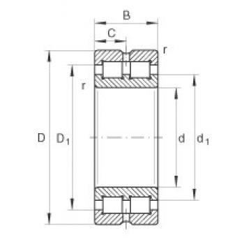 INA SL014848 cylindrical roller bearings 240 mm x 300 mm x 60 mm