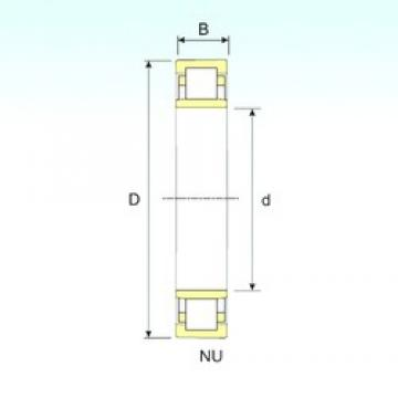 ISB NU 228 cylindrical roller bearings 140 mm x 250 mm x 42 mm