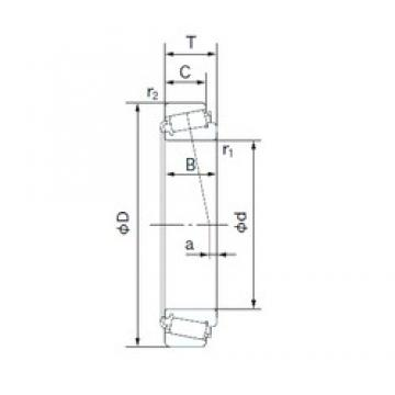 NACHI H-LM11749R/H-LM11710 tapered roller bearings 17.463 mm x 39.878 mm x 14.605 mm