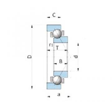 INA 712179700 angular contact ball bearings