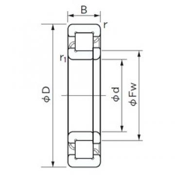 NACHI NUP 2332 cylindrical roller bearings 160 mm x 340 mm x 114 mm