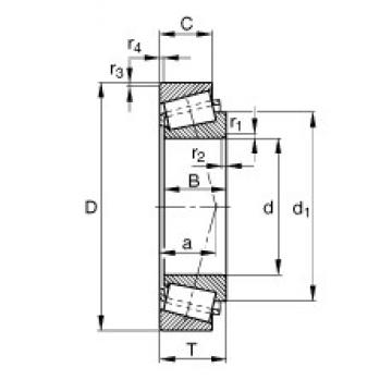 FAG 32312-A tapered roller bearings 60 mm x 130 mm x 46 mm