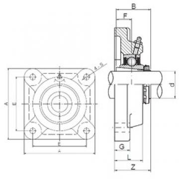 ISO UKF206 bearing units
