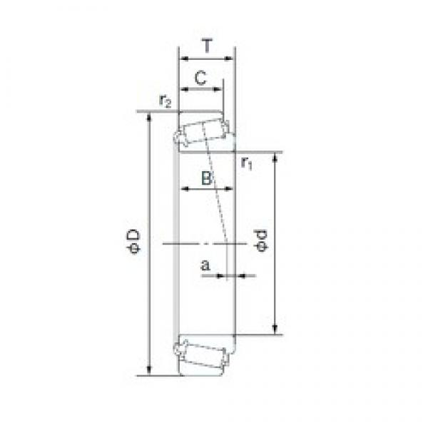 NACHI 498/492A tapered roller bearings 84.138 mm x 133.350 mm x 29.769 mm  #2 image